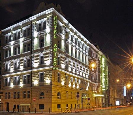 """Unser schönes Hotel """"Amigo"""" in Prag."""