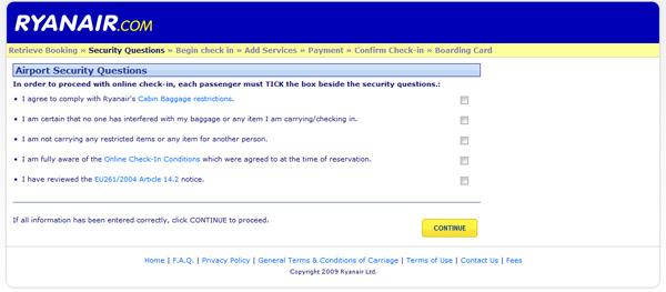 Machs Dir selbst! Ryanair Checkin online.